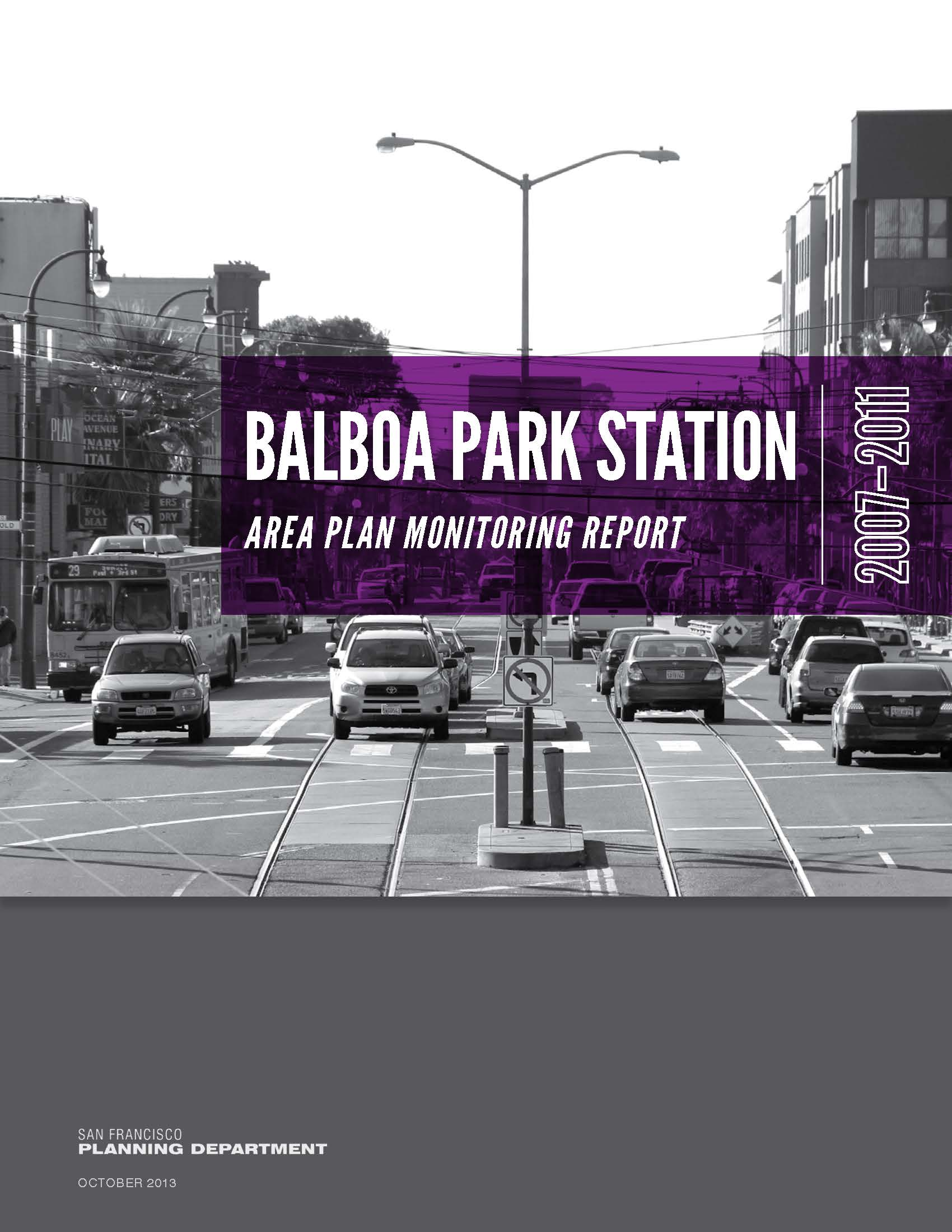 Cover Image for the Balboa Park Station Area Plan Monitoring Report