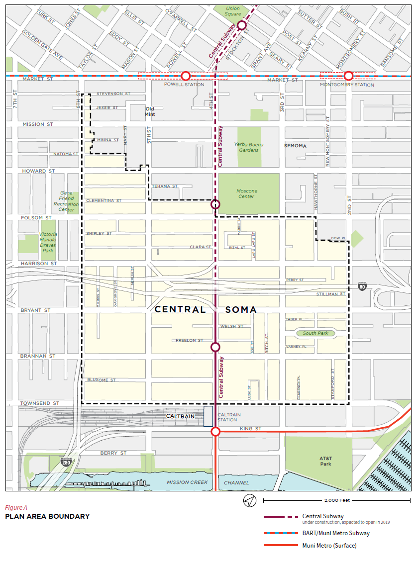 Central Soma Area Plan Map