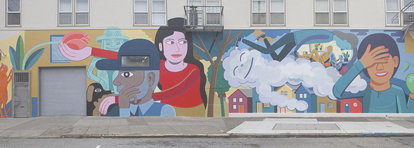 Mr. Foggy's Neighborhood Mural on Clement Street