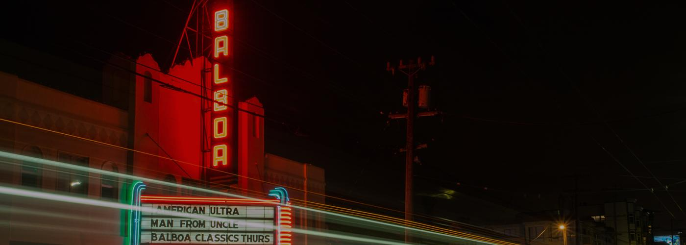 Photo of Balboa Theater at night