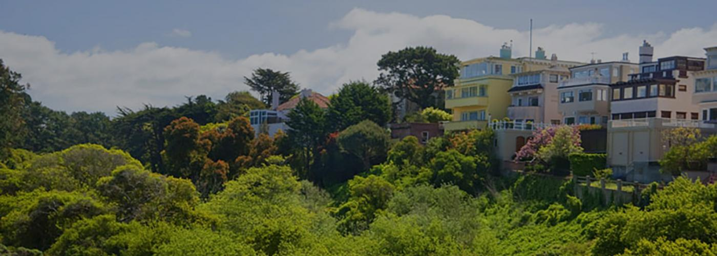 Photo of homes along the Presidio