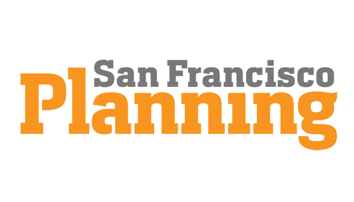 San Francisco Planning logo in grey and orange