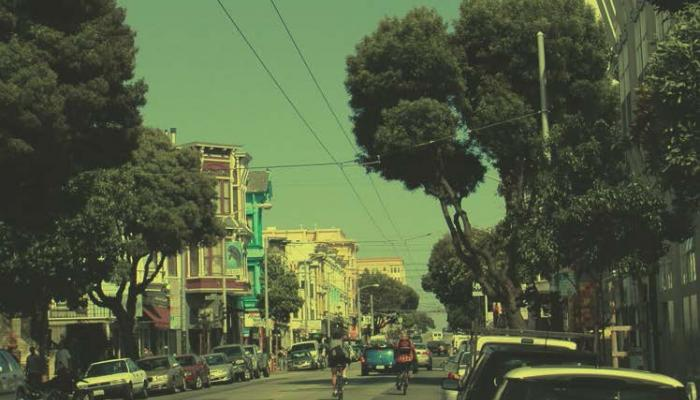 view of Haight Street