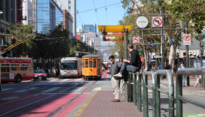 Image of Muni from Market Street