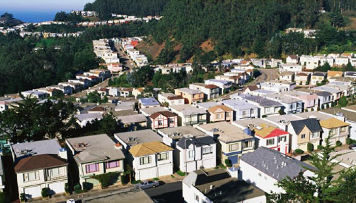 view of colorful houses on Twin Peaks