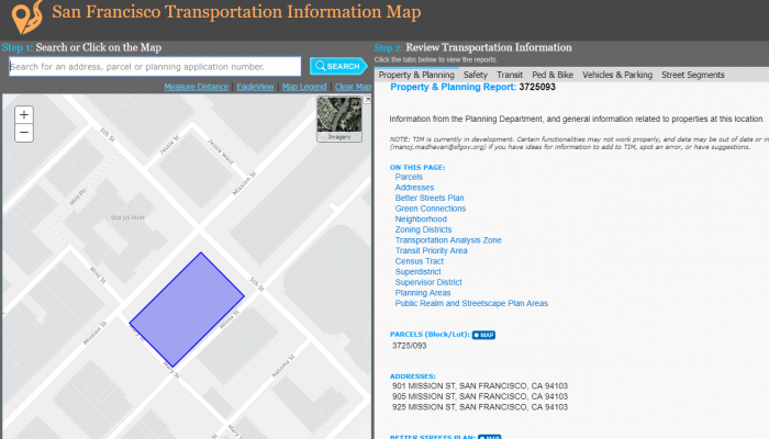 Photo of the Transportation Information Map