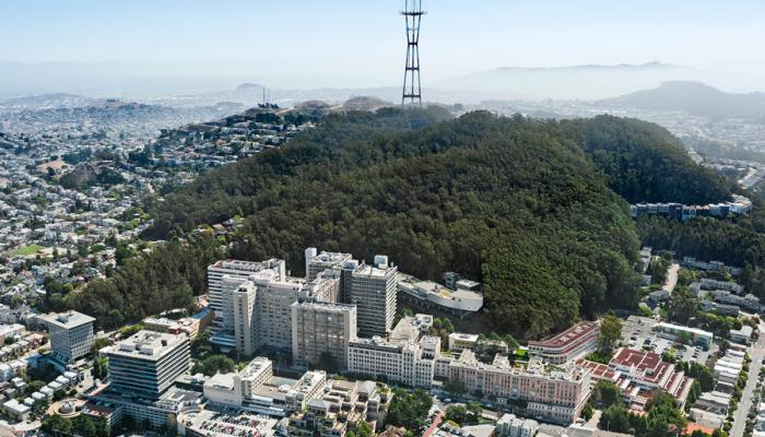 Aerial view of UCSF Parnassus campus