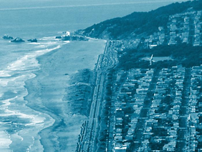 aerial view of San Francisco coastline