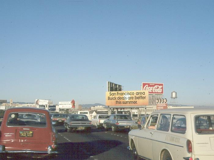 Photo of billboards from the freeway