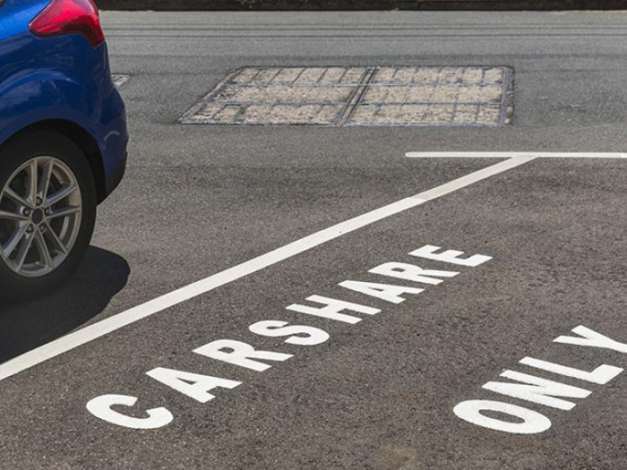 Parking space with Carpool Only spaces